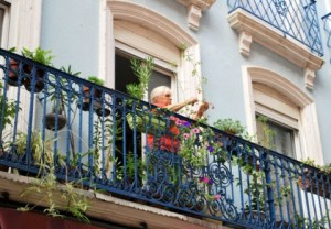 Balcon in Fraankrijk