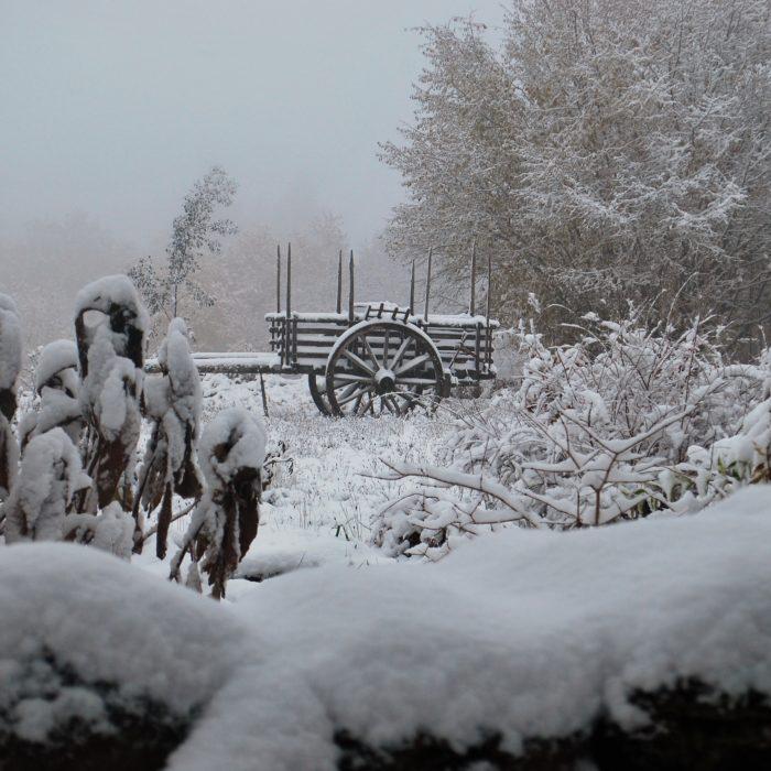 De Creuse in de sneeuw