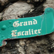 De trap van Rocamadour, uit steen gehouwen