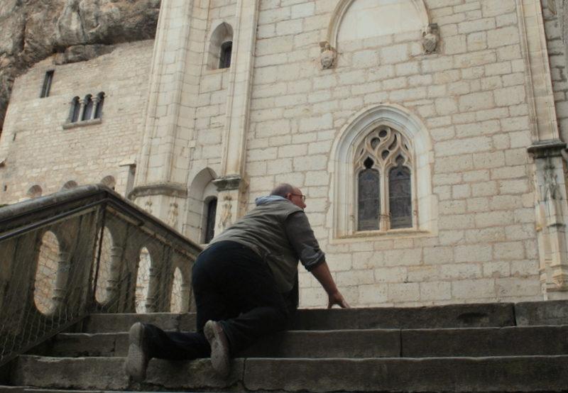 Op mijn knieën naar het hoogste doel van Rocamadour